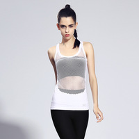 2017 Sleeveless Breathable Running Vests Women Quick Dry Tank Top Outdoor Sports Fitness Vests Slim Body