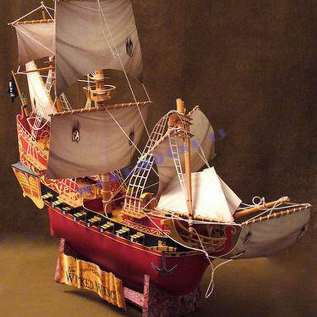 Free shipping! paper model black pearl model ship Pirates of  Caribbean Wicked wench Sailboat Simulation DIY toy 3d paper puzzle