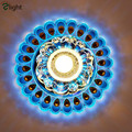 3W Modern Peacock Porch Led Ceiling Chandelier Hallway Crystal Acrylic Dimmable Led Chandelier Lighing Porch Chandelier Lamp