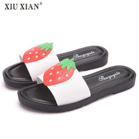 Women Slippers Woman Shoes Home Slippers Furry Slipper Slipper Women Fashion Fruit Comfortable Indoor 3 Color Girl Shoes Winter