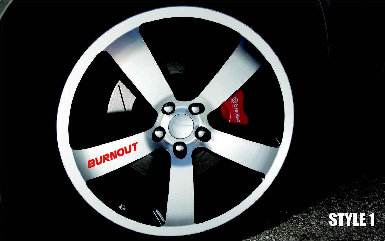 Для x8 выгорания Car/Грузовик Винил Стикеры наклейка гоночный руль обод эмблема