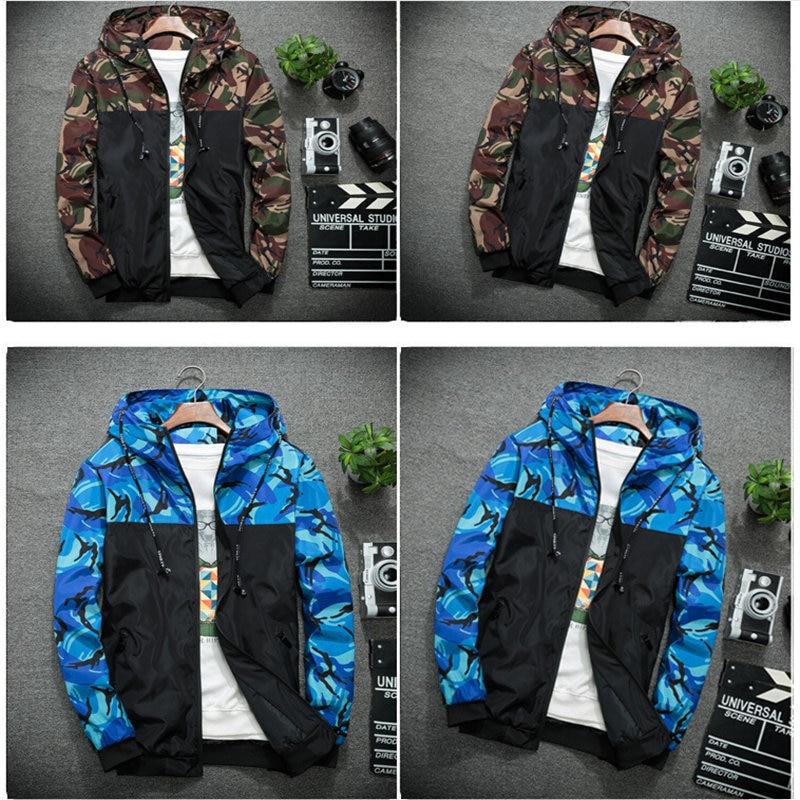 2018 new Korean men casual jacket coat men camouflage jacket mens spring autumn clothes male jacket outerwear M-5XL