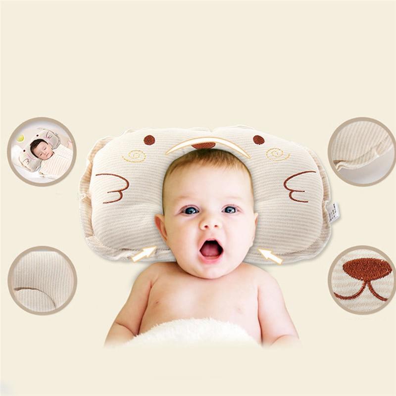 Newborn Baby Cotton Pillows Infant Sleep Shape Toddler Positioner Anti Roll Cushion Flat Bebes Head Pillow Protection Of Newborn