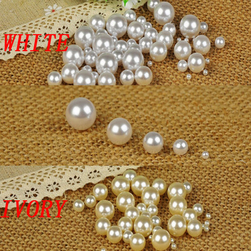 Free shipping no hole round pearls no hole imitation pearls craft art diy beads ivory color many sizes to choose factory direct free shipping imitation pearls chain flatback resin material half pearls chain many styles to choose one roll per lot