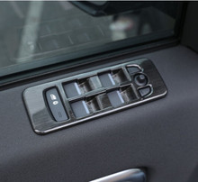цена на Window Lift Switch Button Cover Trim ABS Black Wood Car Accessories For Land Rover Discovery Sport 2015+