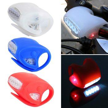 7 Silicone LED Bicicleta Frente Luz Da Bicicleta MTB Ciclismo de Montanha Lanterna luz de Aviso de Segurança Da Lâmpada Traseira ALS88