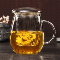550ml/350ml Heat Resistant Glass cup,teapot with lid filter/strainer,coffee,Home office Dinkware,pu'er/Milk oolong/white tea Cha