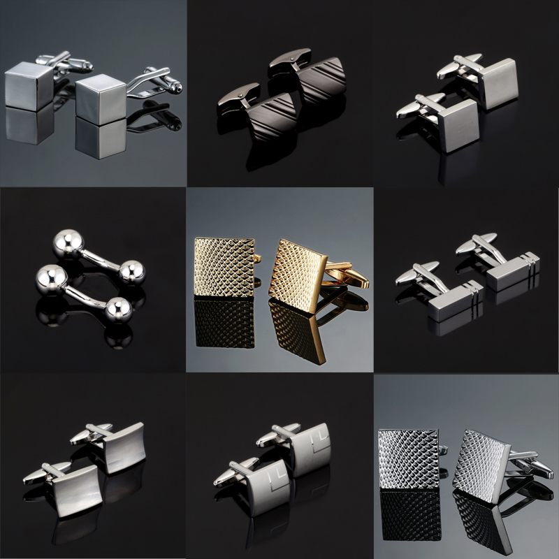 Cufflink Jewelry Engraved Sudoku-Design 18-Style Fashion High-Quality Mens Luxury Brand