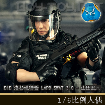 1//6 Scale LAPD Police Department SWAT 3.0 Takeshi Yamada Radio /& Headset
