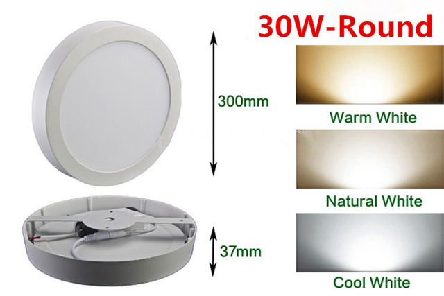 Led ceiling lights 30W surface mounted luminaria lamp 2835smd Natural White/Cold white AC 85V-265V CE&ROHS by DHL 20pcs/lot