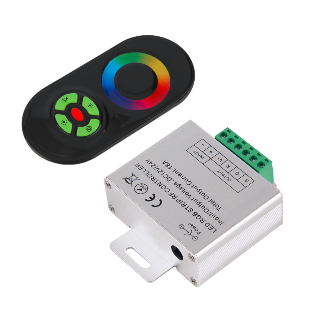 RF Touch Panel Wireless Remote Controller For RGB Led Strip Light DC 12V/24V dahua 3mp ir waterproof