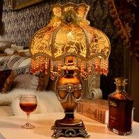 Nordic resin table lamp fabric lampshade Bedroom deco maison lamps table lamparas de mesa para el dormitorio lighting fixtures