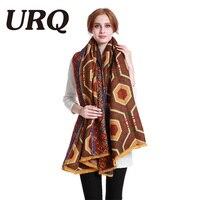 110 190 Winter Warm Scarf For Women Long Big Size Shawl Wrap Soft With Tassel Geometric