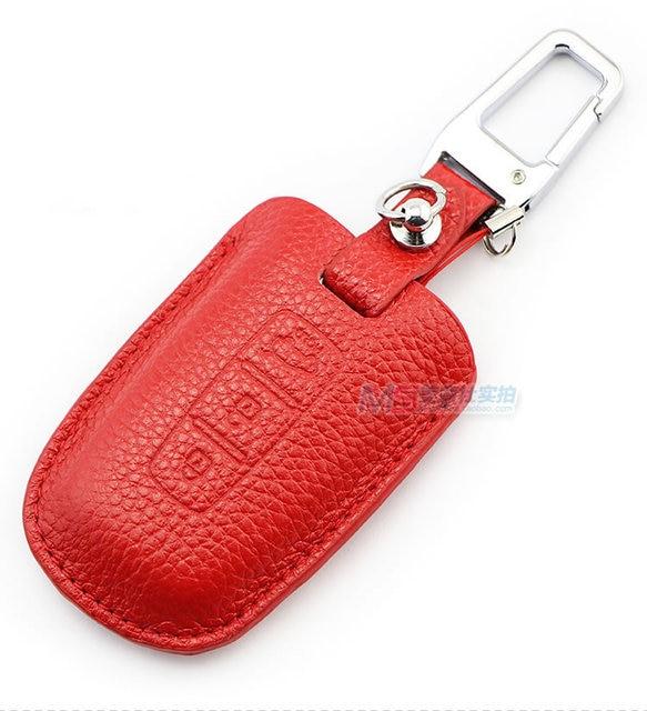 Muti-color Genuine Leather Car Key case fob cover for KIA K2 SPORTAGE SOUL FORTER SORENTO BORREGO auto accessories keyring