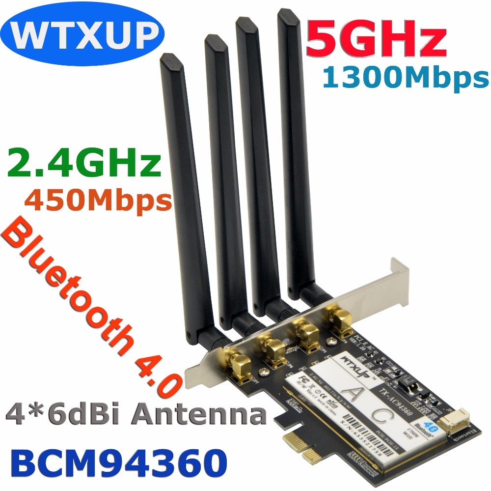 Wtxup Broadcom Bcm94360 1750mbps 802 11ac Wireless Desktop