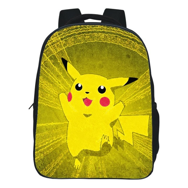 97989530bbba Fashion Multi Size Optional Black Printing Cartoon Pokemon Pikachu Kids  Backpacks for Children School Bags Boys Student Book bag