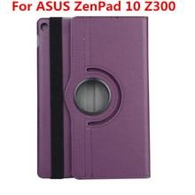 360 grados Que Giran la Cubierta Del Tirón Para El ASUS ZenPad 10 Z300/Z300C/Z300CL/Z300CG Z300m Z301MFL Z301ML Z301 tableta caso de Cuero de LA PU