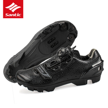 Santic MTB Cycling Shoes 2017 Men Pro Mountain Bike Shoes PU Breathable Self-locking Bicycle Shoes Zapatillas Ciclismo MTB