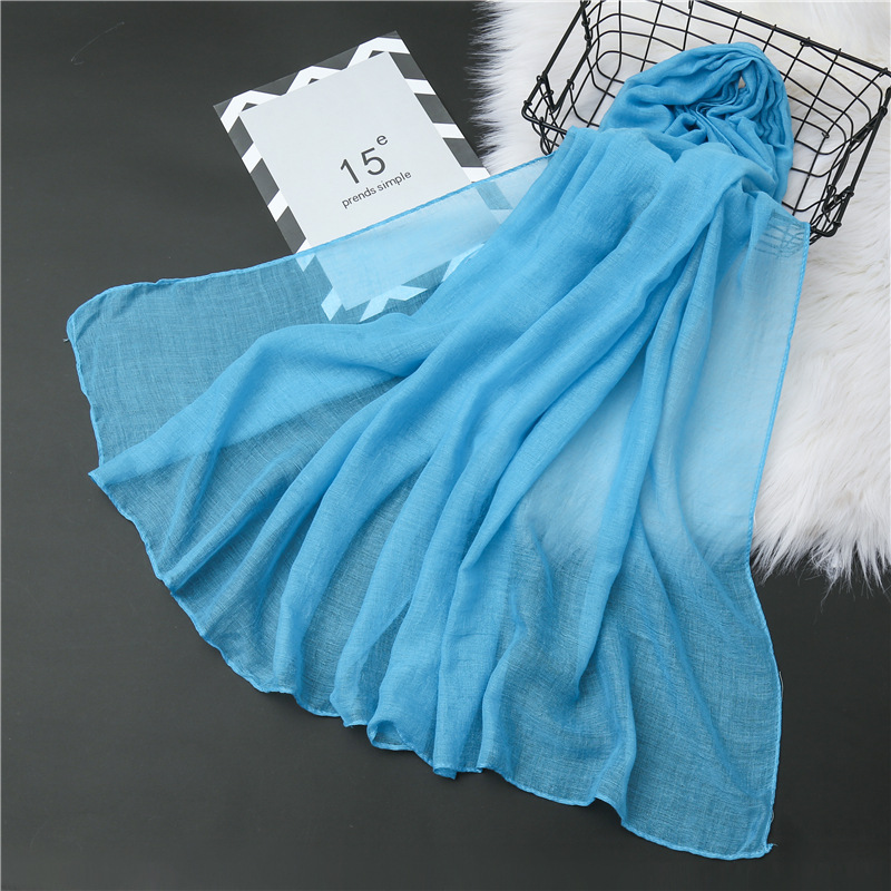 2020 New Women Scarf Winter Cotton Shawls And Wraps Solid Color Soft Neck Headband Hijab Scarves Foulard Female Bandana