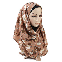 New Seersucker Muslim Headband Scarf Women Winter Hijab Print Fashion Summer Shawl Wrap for Lady Islamic Cover Bonnet Hat