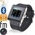 Alumínio W838 pulso relógio inteligente Mobile Phone Touch Screen 2 GB ROM à prova d ' água GSM Quad Band Camera Bluetooth USB russo francês