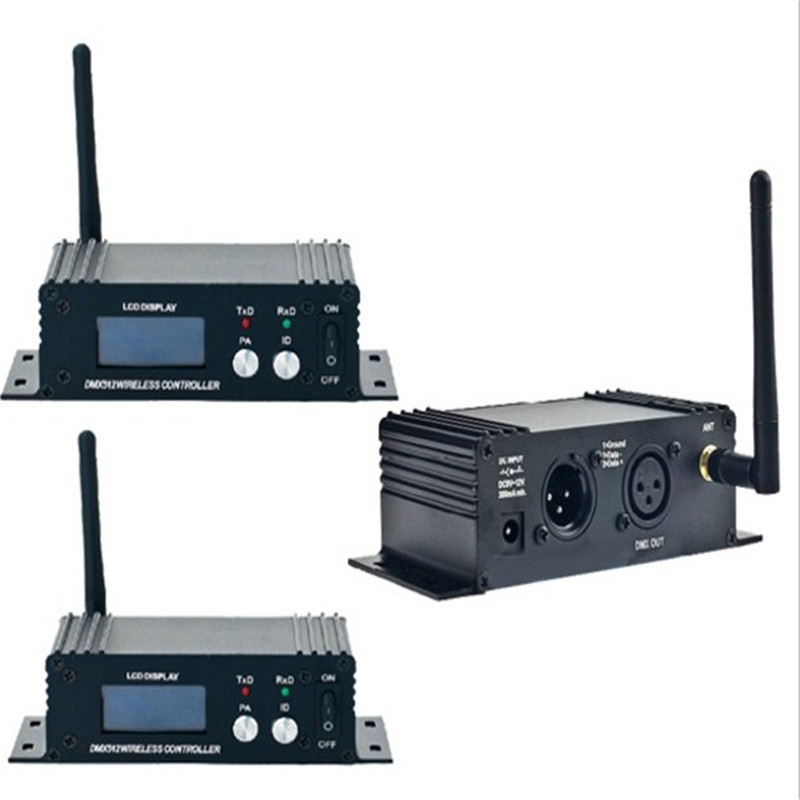 Mini 2.4G Wireless Dmx 512 Controller Transmitter Receiver Lcd Display Dmx Controller Repeater Disco Light 2pcs lot 2 4g wireless dmx 512 controller transmitter and receiver led stage lighting controller dmx tr