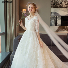 SERMENT Pregnant Women Wedding 2019 New Bride Small Tail Large Size High Waist Cover Belly Fat Was Thin