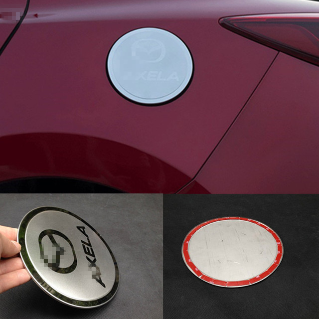1PCS Stainless steel fuel tank cover oil gas cap cover trim Fit for