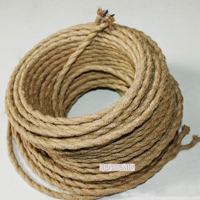 100m Lot 2x0 75 Vintage Rope Wire Twisted Cable Retro