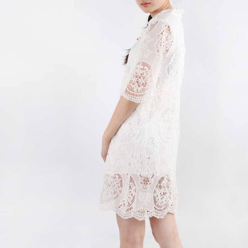 HDY Summer Dress Half Sleeve Ladies Summer Dresses Casual Lace Dress Mini Hollow Out White Lace Dresses for Women 2018 10