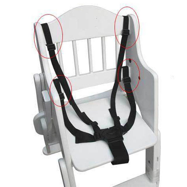 Universal 5 Point Harness Safety High Chair Seat Belts Baby Stroller Belt Infant Pram Buggy Pushchair 360 Rotating Hook Strap 1