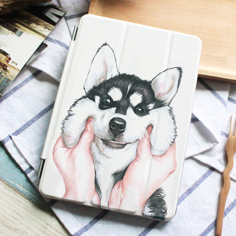 Case for Ipad Air 2 Husky Dog Series Auto Sleep /Wake Up Flip PU Leather Case for Ipad Air 2 Smart Stand Cover for ipad air case dowswin pu leather smart case for ipad air cover with pc hard back stand flip case for ipad air 1 cases