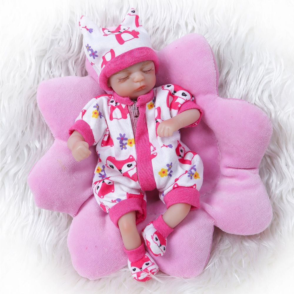 Nicery 8inch 20cm Bebe Reborn Mini Doll Soft Silicone Lifelike Toy Gift for Child Christmas Cute