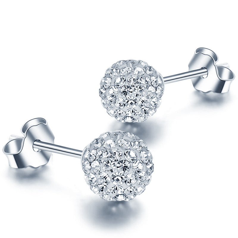 Crystal From Swarovski 30% Plated Silver Crystal Stud s
