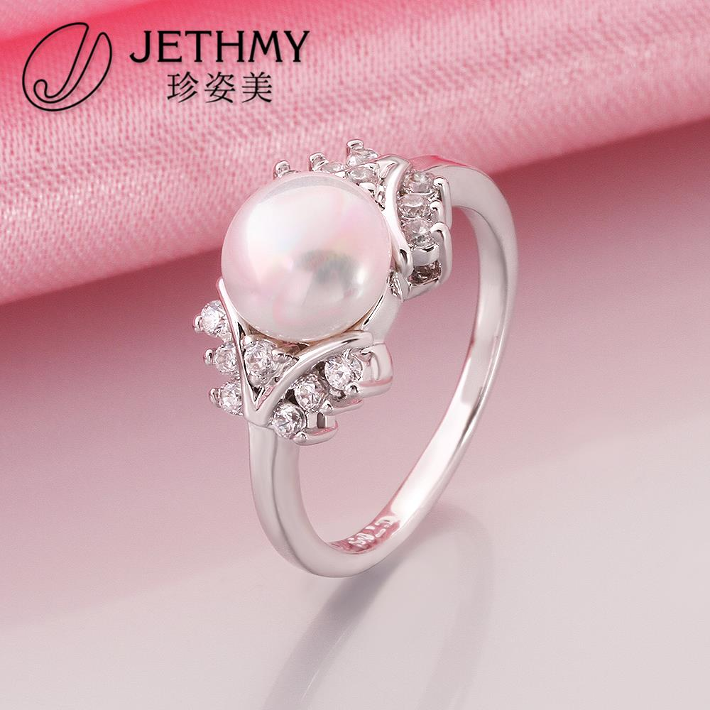 fashion party fine jewelry pearl ring brand jewellery 925 sterling ...