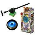 1 pcs Beyblade 4D Beyblade Fusão de Metal Com Lançador Beyblade Pião Piscando Presente de Natal Para Crianças Brinquedos Spinning Top
