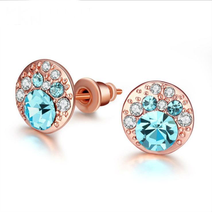 OUSNOW Fashion jewelry Crystal heart pendant eardrop earrings
