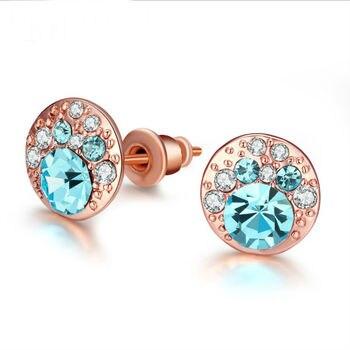 837e3e0a4560 OUSNOW joyería de moda colgante de corazón de cristal aretes pendientes  hecho con elementos de Swarovski 2019 del Día de la madre regalo de las ...