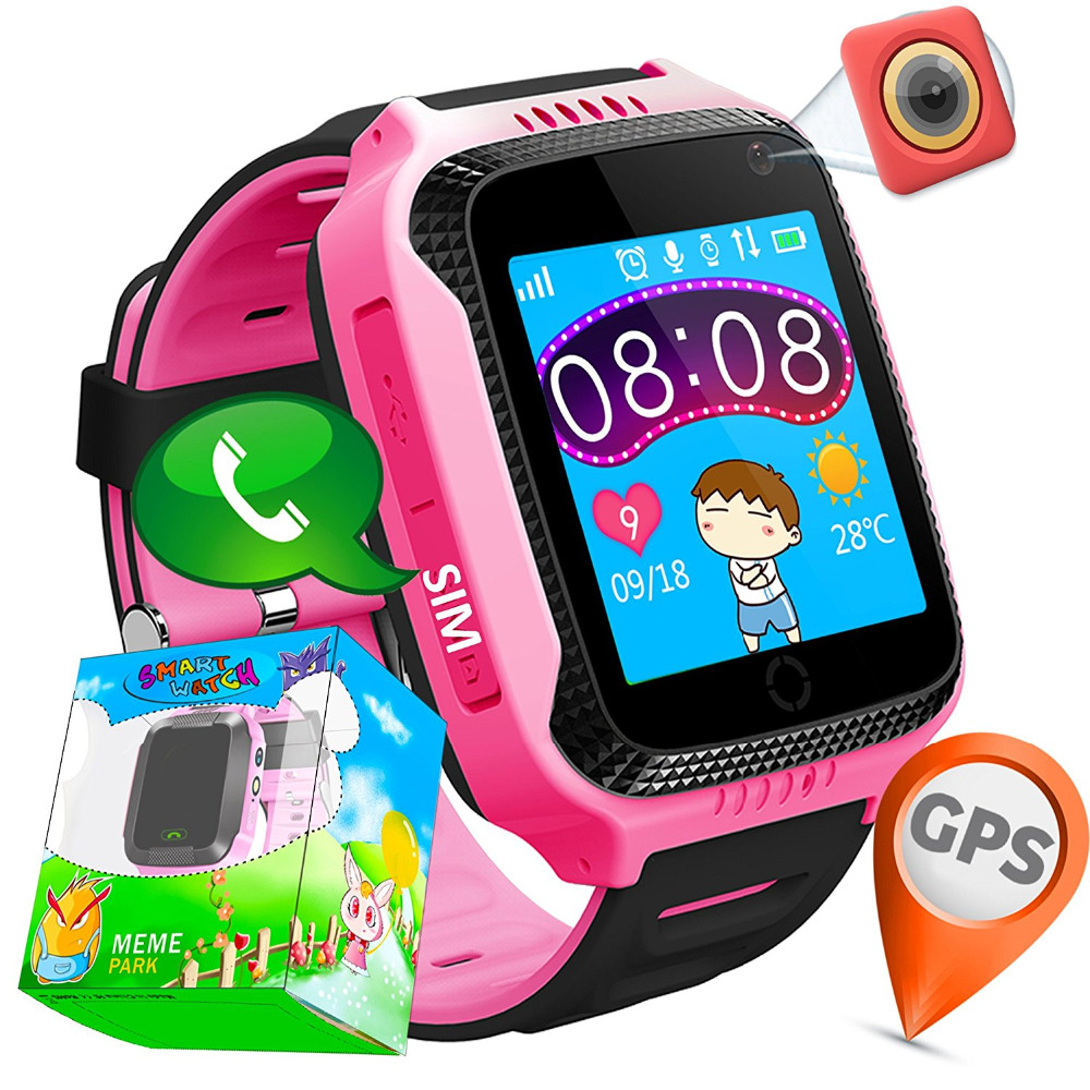 GPS Tracker Smart Watch kids for Children Christmas Gifts with Camera SIM Calls Anti-lost SOS for iPhone Android made by PLYSIN айфоны для детей