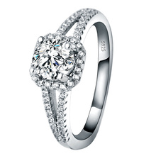 European and American Style Luxury High-grade Precision Micro-inlaid Diamond Close womens Ring 925 Sterling Silver Fine Jewelry