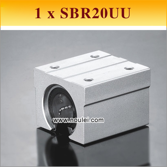 1pcs SBR20UU SBR20 20mm SBR UU Linear Ball Bearing Block CNC Router 2pcs sbr20 linear guide 20mm linear rails 4 pcs sbr20uu ball bearing block cnc router
