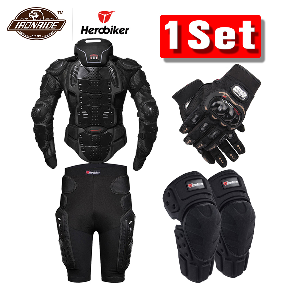 HEROBIKER Motorcycle-Jackets Neck-Protector Body-Armor Summer with  title=