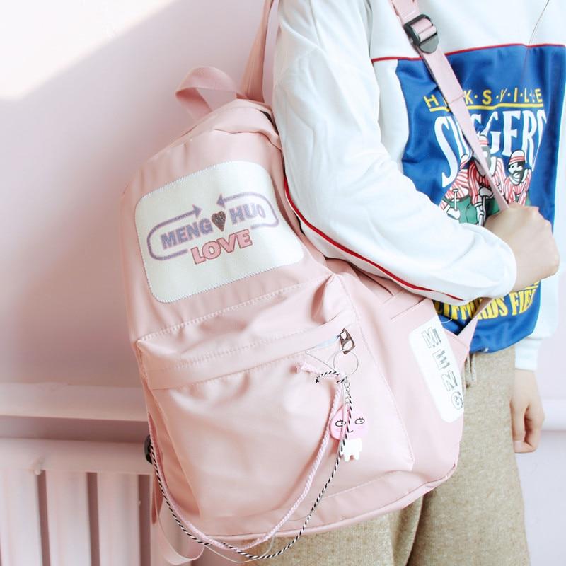 Men's Bags Luggage & Bags Obedient Japanese Schoolbag Female Middle School Student Korean Version Campus Harajuku Street Softback Zipper Backpack Teen Backpack