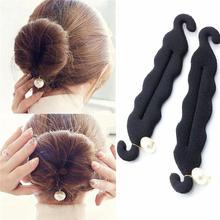 Magic Hair Styling Torção Styling Bun Grampos Hairdisk Meatball Cabeça de Borracha do Clipe Acessórios de Cabelo Para As Mulheres Cabelo Ferramenta Trança