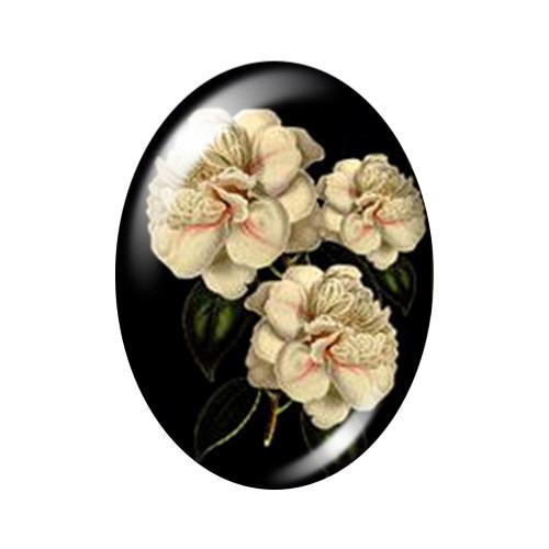 Красивые Винтажные Цветы Роза Маргаритка 10 шт. 13x18 мм/18x25 мм/30x40 мм овальные фото стекло кабошон демонстрационная плоская задняя часть изготовление TB0043 - Цвет: B