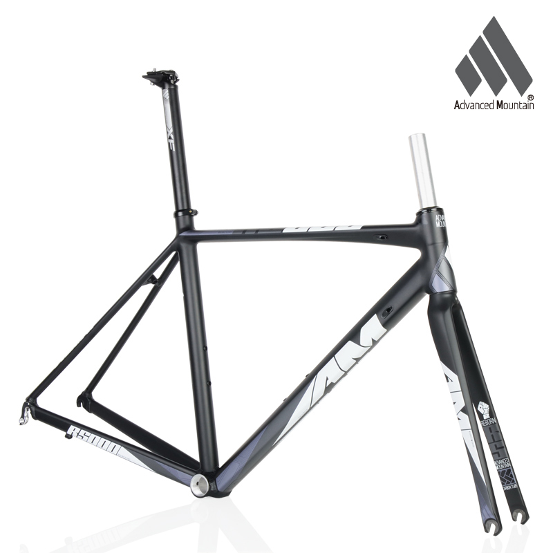 AM R5000 Lightweight Aluminium <font><b>Alloy</b></font> <font><b>700c</b></font> Frame Carbon <font><b>Fork</b></font> 48/50/52cm Road Bicycle Racing Frameset image