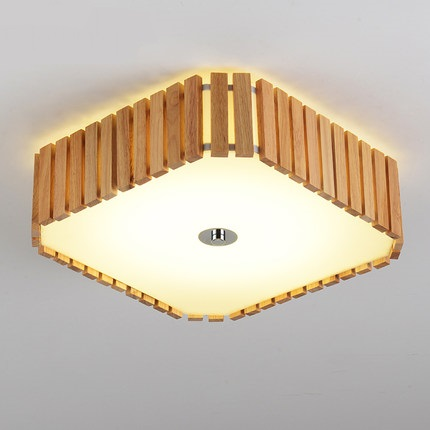 Simple wooden ceiling lights warm bedroom living cafe creative home lighting ceiling lighting rectangle ceiling lamps ZA MZ95
