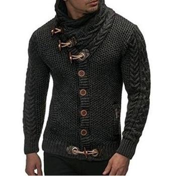 Vintage Cardigan Sweater Coat Men Autumn Pull Homme Solid Sweaters Casual Warm Knitting Jumper Sweater Male Button Pullovers мужские кожанные куртки с косой молнией