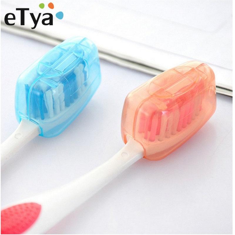 ETya 5pcs/set Portable Travel Toothbrush Cover Case Caps Men Women Toothbrush Packing Organizer Waterproof Dustproof Protect Box