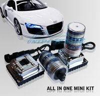 Super brightness 12V 35W  H11 HID Xenon kit Auto MINI All in one HID kit With Easy Installation Free shipping